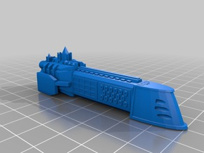 Imperial Navy Dictator Class Cruiser V2 Cut For Printing