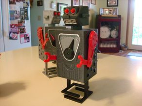 RoBox , 3d printed walking robot, moving Arms, Head and meter.