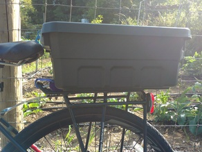 "Customizable Bike ""Trunk"" Container Adaptor"