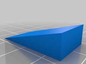 WEDGE for lifting Y axis of printrbot simble maker's edition.