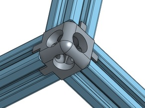 three axis corner union for 20x20 extrusions