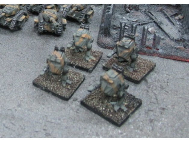 Epic Scale Imperial Guard Sentinel Proxy by Cerkaire
