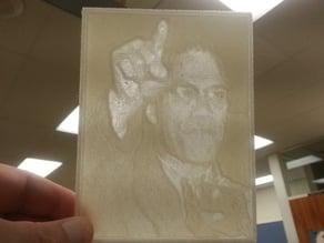 Malcolm X Lithopane