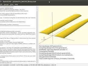 Parametric NACA4 library