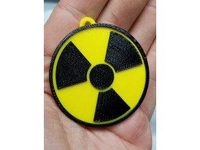 Radiation Warning Symbol (Trefoil) Keychain
