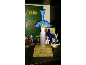 Master Sword and pedestal - The Legend of Zelda: The Wind Waker