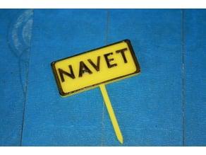 Panneau potager Navet