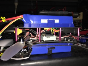 Quadcopter Lipo battery mount top or bottom 3000mA