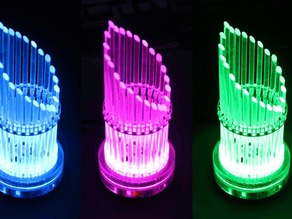 ACRYLIC LED ORGAN lasercutting WS2812 DIGI-DOT-RING based, LED-player with JINX! LED matrix software or stand alone