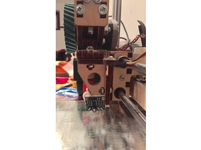 Mini Differential IR height sensing board attachment to Printrbot Plywood Wade's extruder