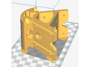2020 V-Slot Kossel Bottom Vertex with M3 Holes and Cutouts to Ease Warp