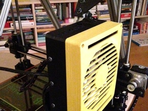 Lulzbot AO-101 Enclosure lid with room for a 120mm fan