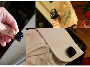 Lord Vader Melted Cufflinks