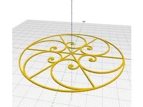 Parametric Golden Spiral Snowflake