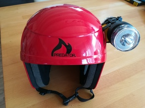 adapter to mount lamp at an predator helmet