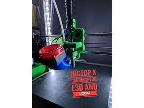 Hictop Prusa i3 X_Carriage mk3 for E3Dv6 LJ12A3