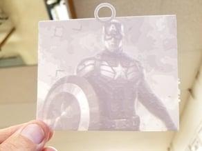 Captain America Lithophane
