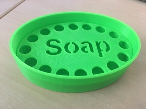 Soap dish / holder with grid (english and german)