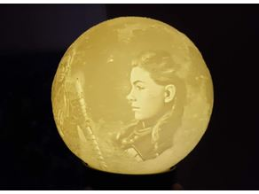 Moon Mond Lithophane + Youtube Link Anleitung