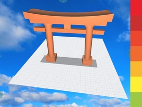Japanese Torii made in Morphi