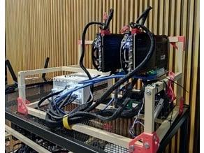 6 GPU Mining Rig with 3D Printed Parts