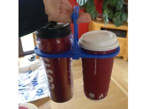 Reusable collapsible coffee carrier