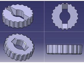 Geeetech Adapter for the z-adjustment of the bed/ adaptateur pour l'ecrou de réglage en z du plateau