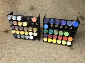 Modular Paint Rack for Army Painter / Vallejo / Reaper - Remix from bbzed
