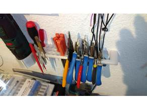 Tool holder for pliers, files and other stuff.