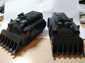 sisters of battle transport with dozer blade and turrets