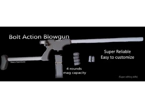 Bolt Action Blowgun