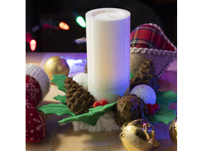 Multi-Color Christmas Candle