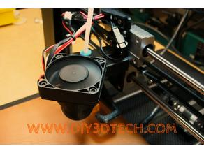E3D Style Bowden Super Cooling Adapter for 30mm to 50mm Fan!
