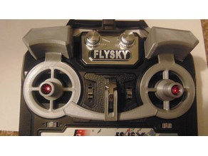 Clip-on Flysky I6/I6X gimbal and Switch Protector