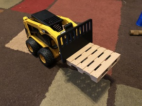 Forklift attachment for Bruder skid steer