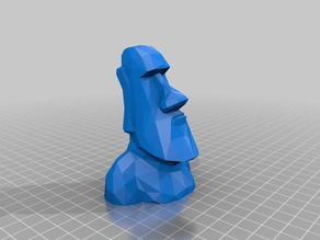 Low Poly Moai USB - SD card holder