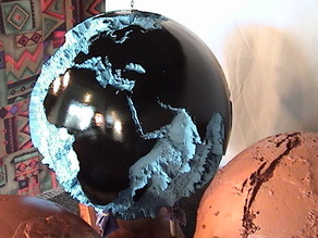 Seafloor Globe 40x, Earth in 129,000 Triangles