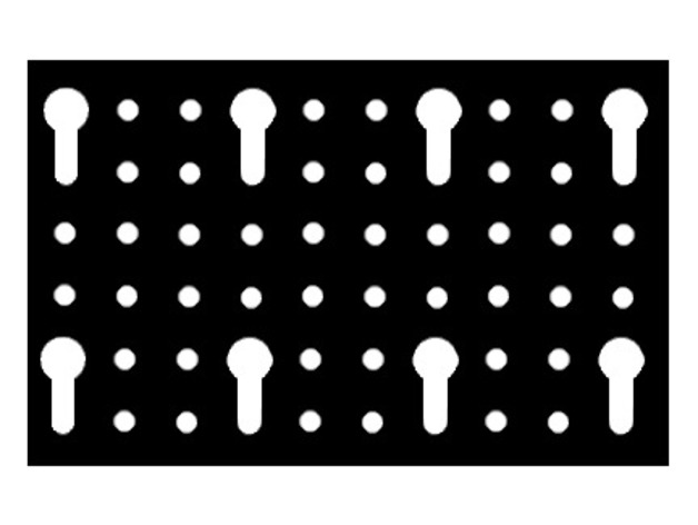 Euro style perforated board