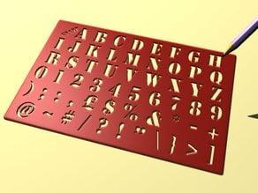 Alphabet Stencil (gnamp)
