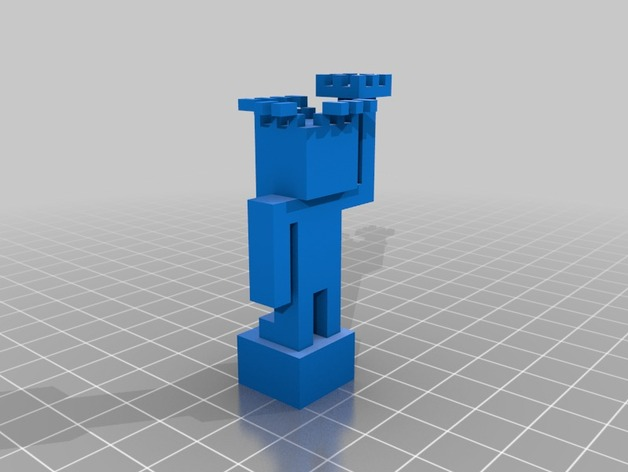 minecraft how to make a statue of liberty