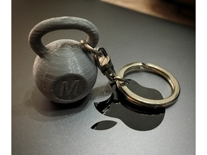 Crossfit kettlebell weight keychain