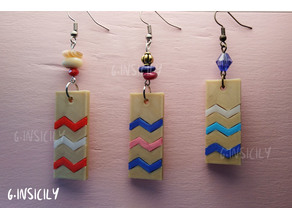 Earrings ZigZag colorful
