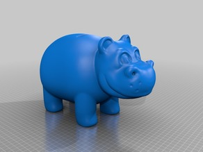 Cartoon bank hippo