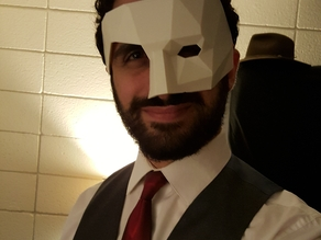 "Low Poly Masquerade ""Phantom of the Opera"" Mask"
