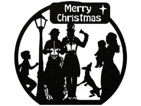 Merry Christmas Carolers - Plaque