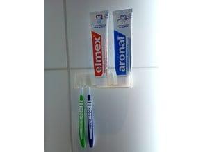 Tooth brush holder (screwless)- Zahnbürsten Halterung ( Schraubenlos)