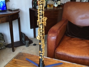 Double oboe stand