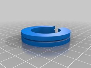 45mm C-ring with 28mm inner radius and outer recess for a Edison Screw bulb mount