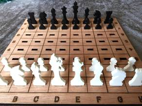 Laser Cut Chess Game
