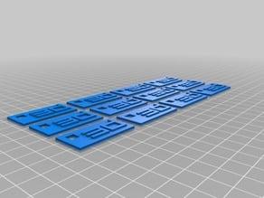 """""""3D"""" Key Fobs"""